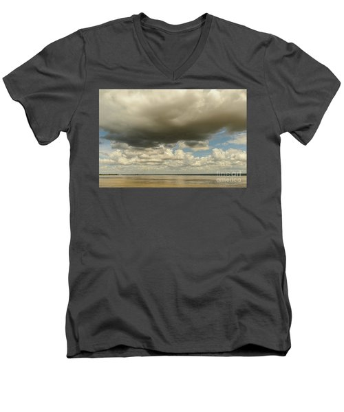 Men's V-Neck T-Shirt featuring the photograph Sailing The Irrawaddy by Werner Padarin