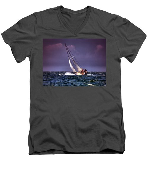 Sailing To Nantucket 001 Men's V-Neck T-Shirt