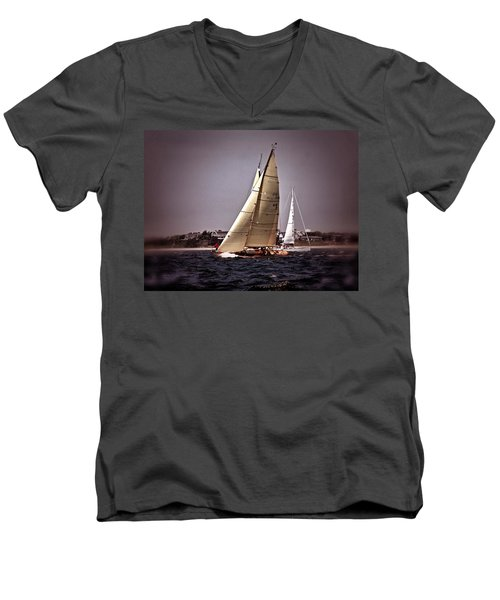 Sailing To Nantucket 005 Men's V-Neck T-Shirt