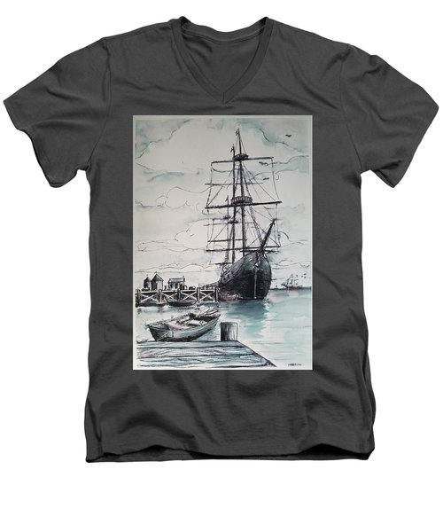 Sailing Vessel Pandora Men's V-Neck T-Shirt