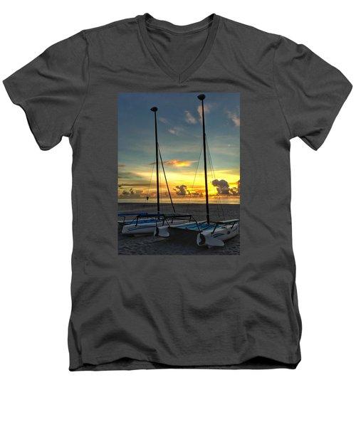 Sailing Vessels  Men's V-Neck T-Shirt