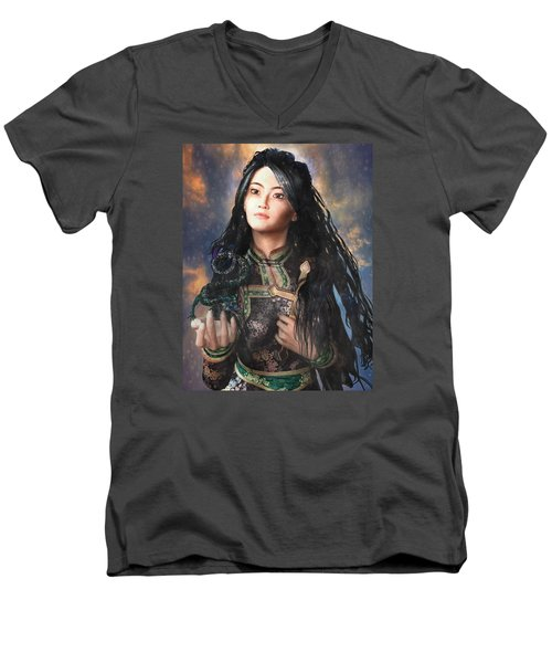 Saint Agnes Of Vietnam 7 Men's V-Neck T-Shirt
