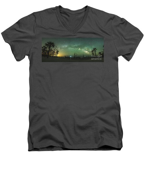 Saint Helena Island Milky Way Men's V-Neck T-Shirt