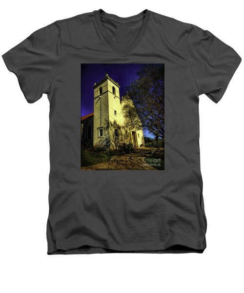 Saint Johns Two Men's V-Neck T-Shirt by Ken Frischkorn