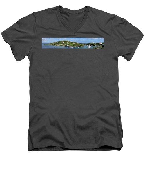 Saint Lucia Panorama Men's V-Neck T-Shirt