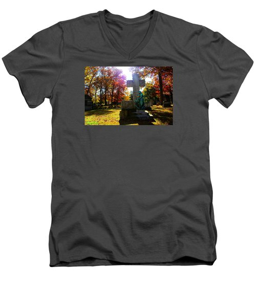 Men's V-Neck T-Shirt featuring the photograph Saint Mary by Michael Rucker