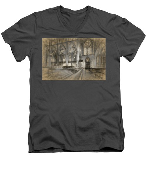 Saint Patrick's Cathedral In New York City Men's V-Neck T-Shirt