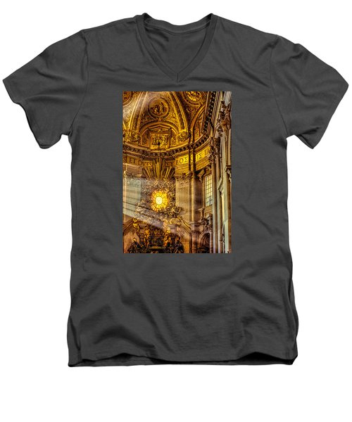 Men's V-Neck T-Shirt featuring the photograph Saint Peter's Chair by Trey Foerster