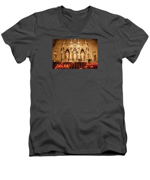 Saint Rose Of Lima Altar Men's V-Neck T-Shirt by Jean Haynes