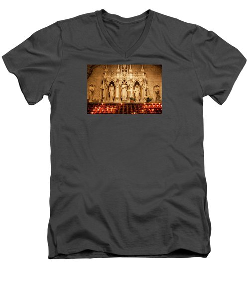 Saint Rose Of Lima Altar Men's V-Neck T-Shirt