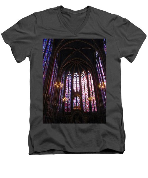 Men's V-Neck T-Shirt featuring the photograph Sainte-chapelle by Christopher Kirby