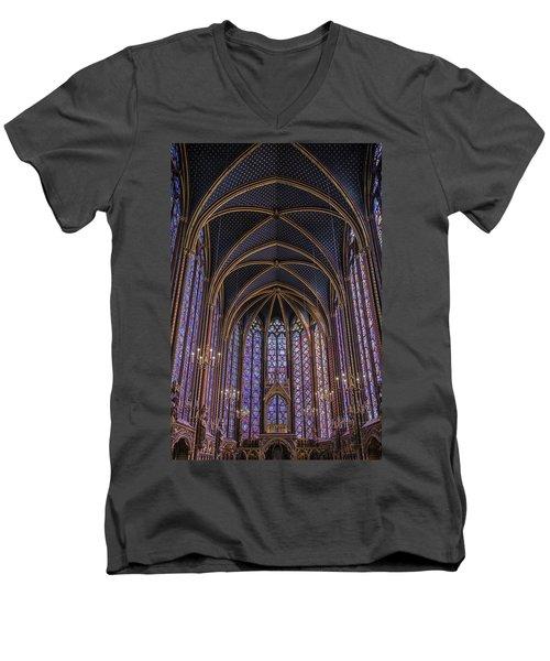 Sainte Chapelle Stained Glass Paris Men's V-Neck T-Shirt