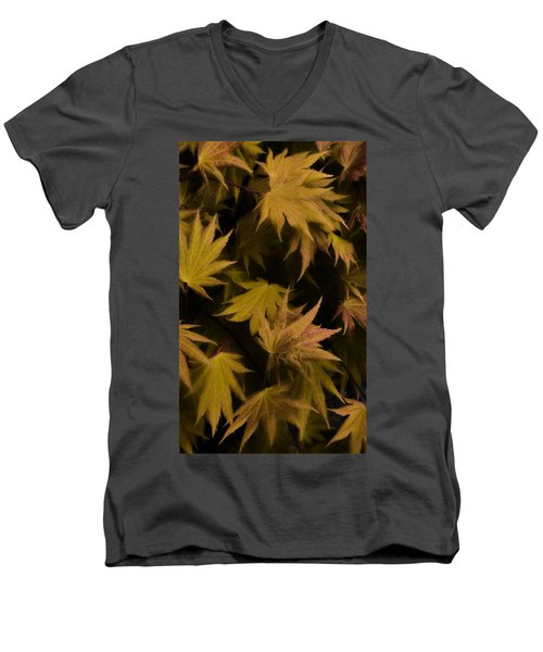 Japanese Autumn  Men's V-Neck T-Shirt by Mike Nellums