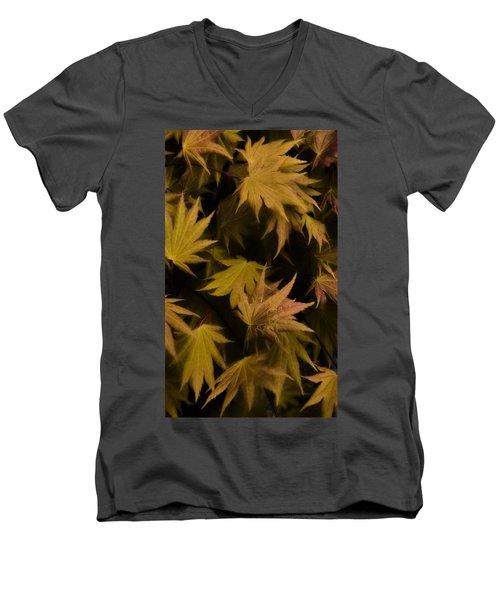 Japanese Autumn  Men's V-Neck T-Shirt