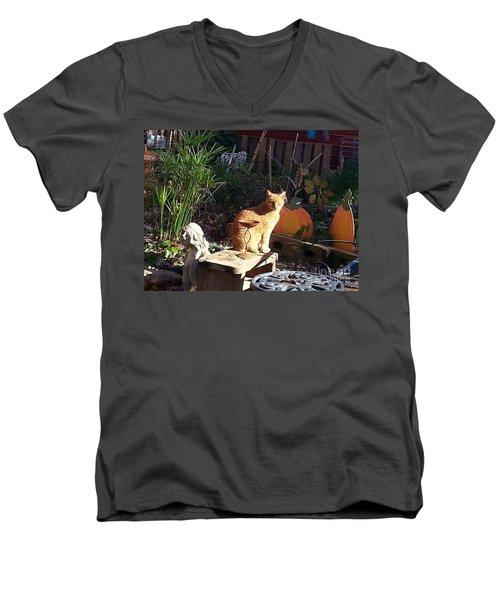 Salem In The Garden Men's V-Neck T-Shirt