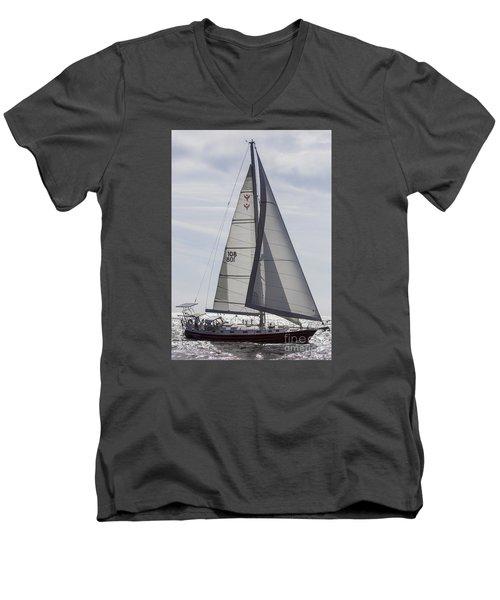 Saling Yacht Valkyrie Charleston Sc Men's V-Neck T-Shirt