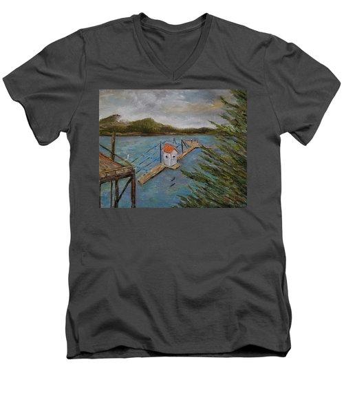Salmon Hatchery, Juneau, Alaska Men's V-Neck T-Shirt