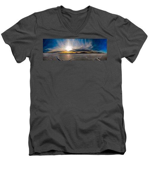 Salt Flats Sunset Men's V-Neck T-Shirt