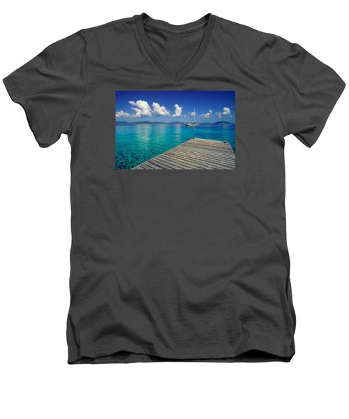 Salt Island Ancorage Men's V-Neck T-Shirt