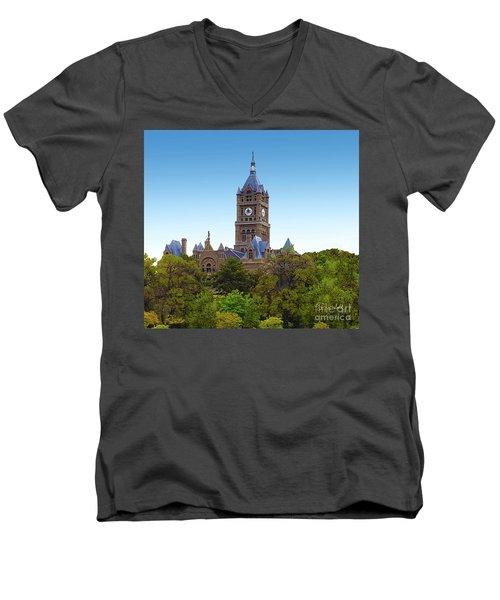 Salt Lake City Hall Men's V-Neck T-Shirt