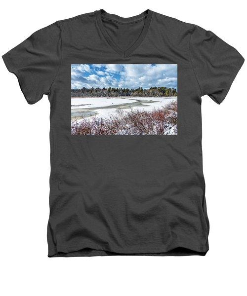 Salt Marsh Meander Men's V-Neck T-Shirt
