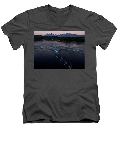Saltstraumen, Magic Power Stream Men's V-Neck T-Shirt by Tamara Sushko