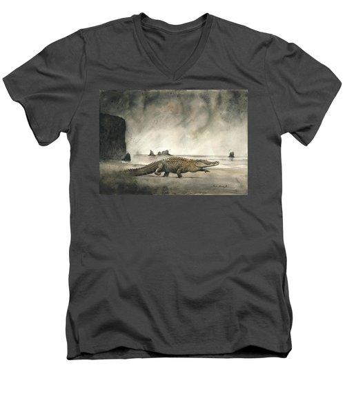 Saltwater Crocodile Men's V-Neck T-Shirt