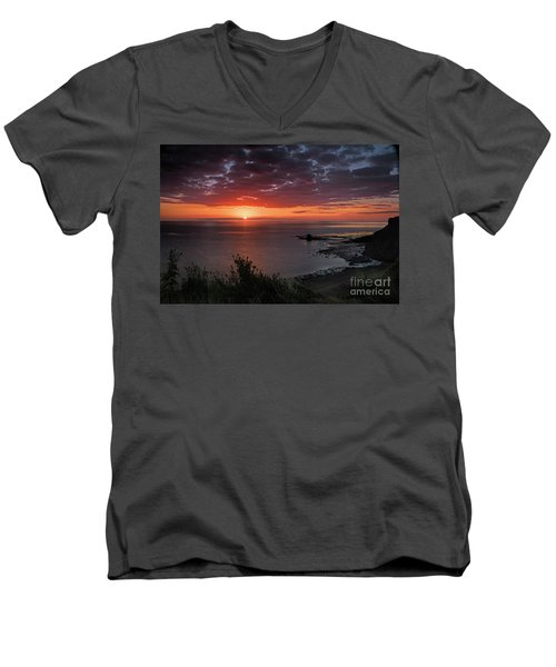 Saltwick Bay Sunrise  Men's V-Neck T-Shirt