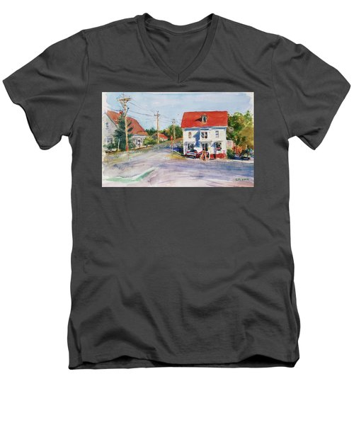Salty Market, North Truro Men's V-Neck T-Shirt