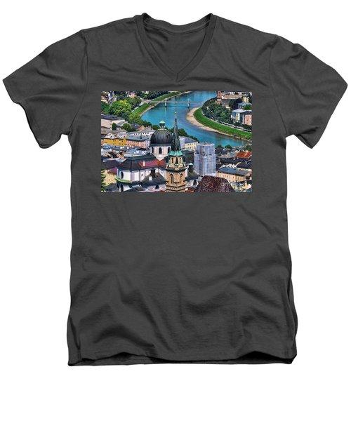 Salzburg Austria Europe Men's V-Neck T-Shirt