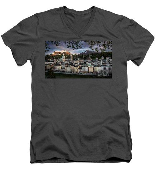 Salzburg Men's V-Neck T-Shirt by Maurizio Bacciarini