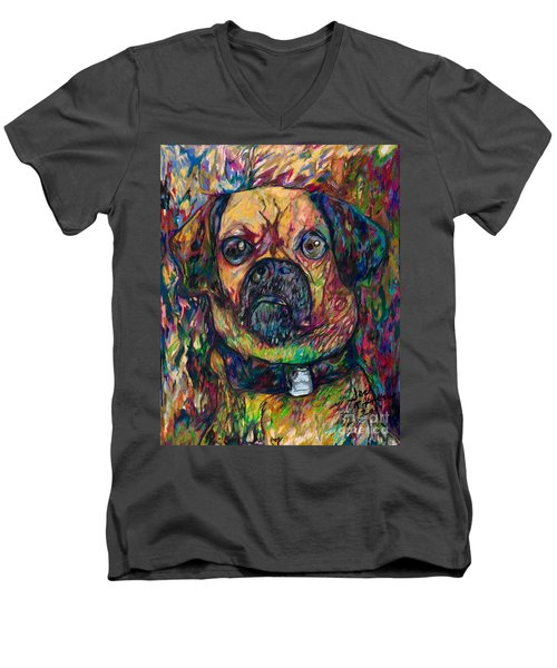 Sam The Dog Men's V-Neck T-Shirt