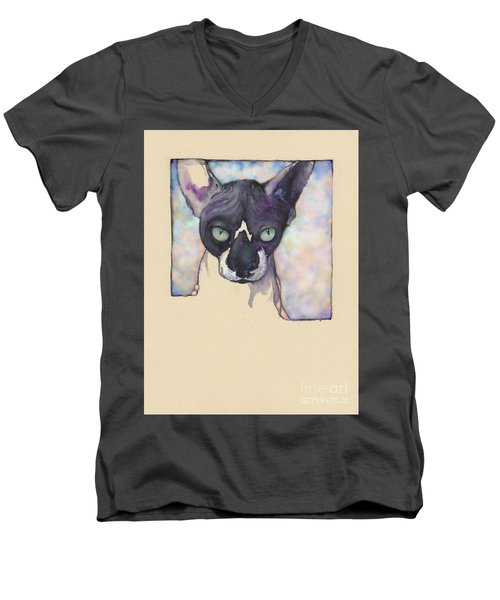 Sam The Sphynx Men's V-Neck T-Shirt