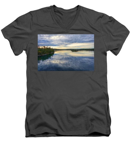 Sambro Basin I Nova Scotia Men's V-Neck T-Shirt by Heather Vopni