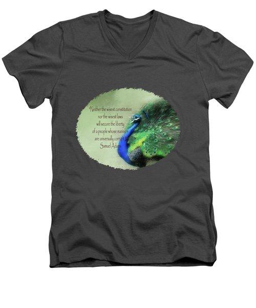 Samuel Adams - Quote Men's V-Neck T-Shirt