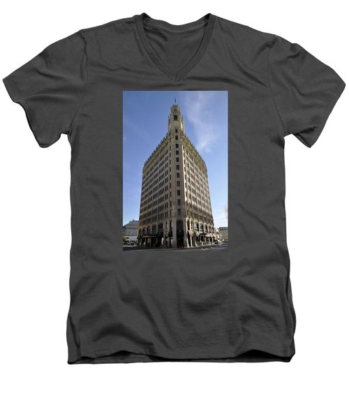San Antonio Building 2 Men's V-Neck T-Shirt
