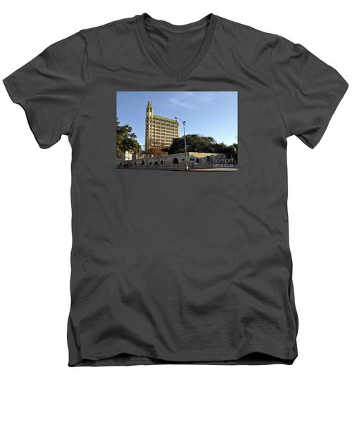 San Antonio Building Men's V-Neck T-Shirt