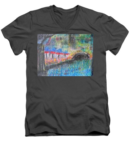 San Antonio By The River I Men's V-Neck T-Shirt