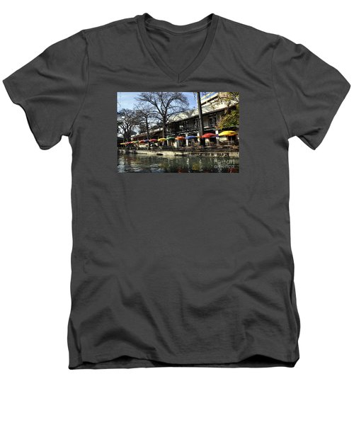 San Antonio River Walk 2 Men's V-Neck T-Shirt