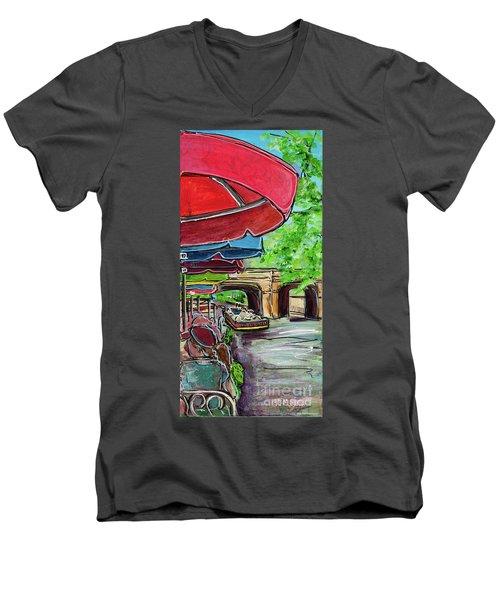 San Antonio River Walk Cafe Men's V-Neck T-Shirt