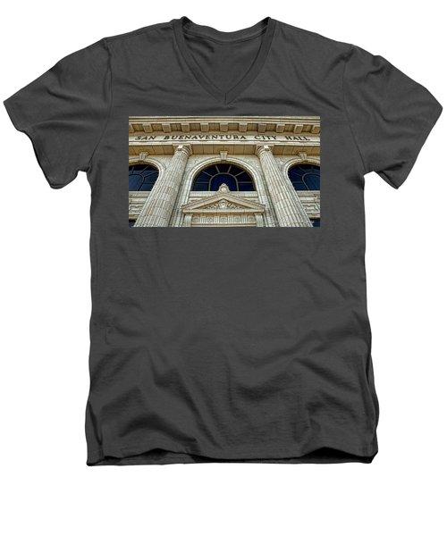 San Buenaventura City Hall Men's V-Neck T-Shirt