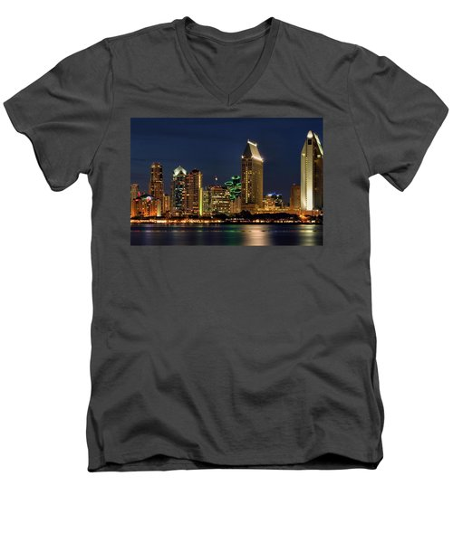 San Diego Night Men's V-Neck T-Shirt