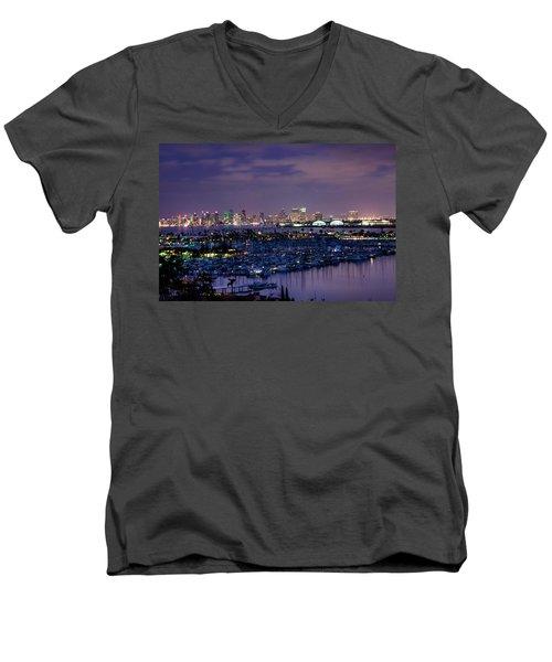 San Diego Skyline 4 Men's V-Neck T-Shirt