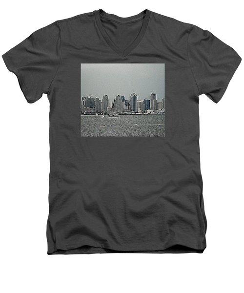 San Diego Waterfront Men's V-Neck T-Shirt