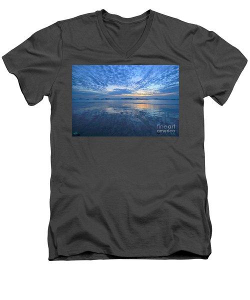 San Elijo Blue  Men's V-Neck T-Shirt