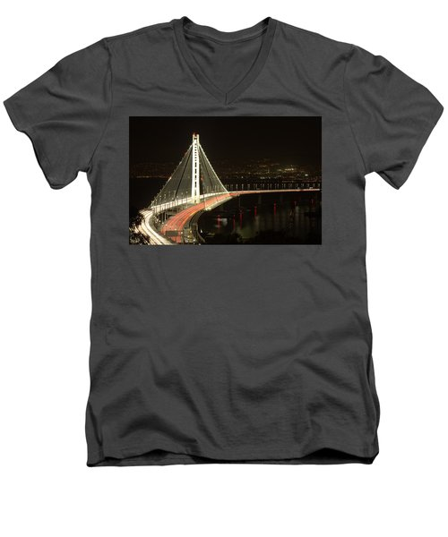 San Francisco Bay Bridge New East Span Men's V-Neck T-Shirt