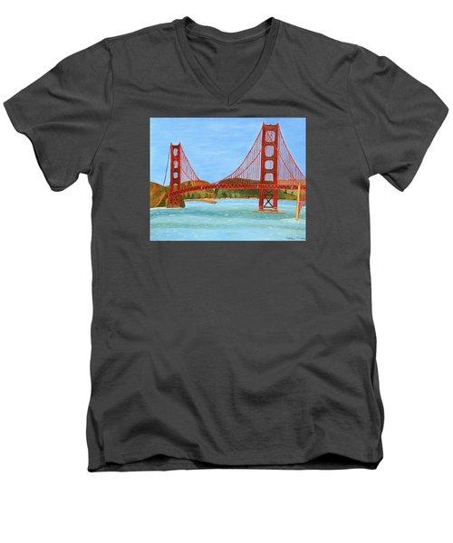 San Francisco Bridge  Men's V-Neck T-Shirt