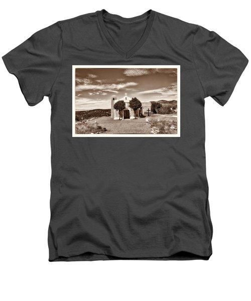 San Francisco De Asis  Est 1839 Men's V-Neck T-Shirt by Robert FERD Frank
