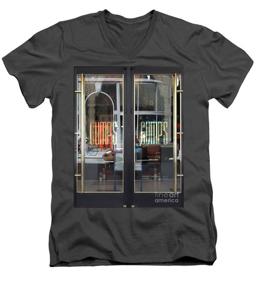 San Francisco Gumps Department Store Doors - Full Cut - 5d17094 Men's V-Neck T-Shirt