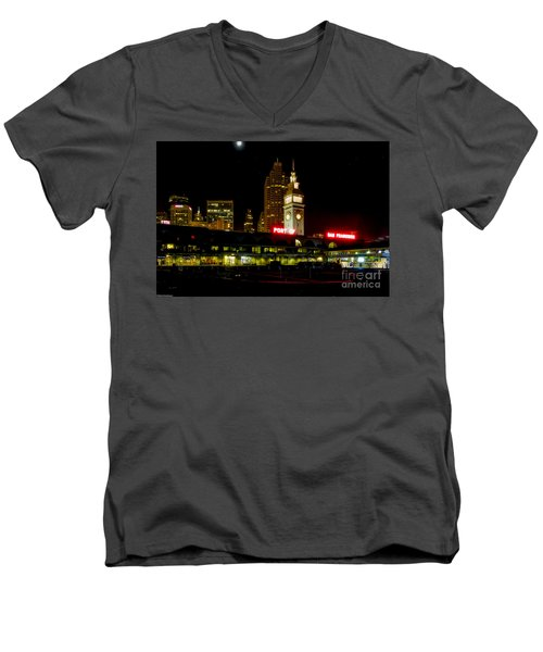 San Francisco Nights Men's V-Neck T-Shirt